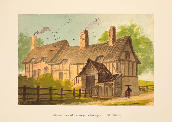 Anne Hathaway's Cottage, Shottery. Watercolour by Paul Braddon