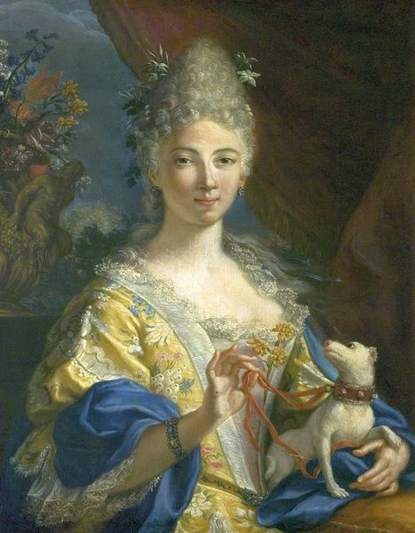 A portrait in oils of Eva Maria Garrick (1724-1822) painted during one of the Garricks' two visits to France, attributed to Francois Boucher