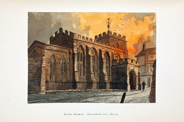 Guild Chapel. Watercolour by Paul Braddon, circa 1890