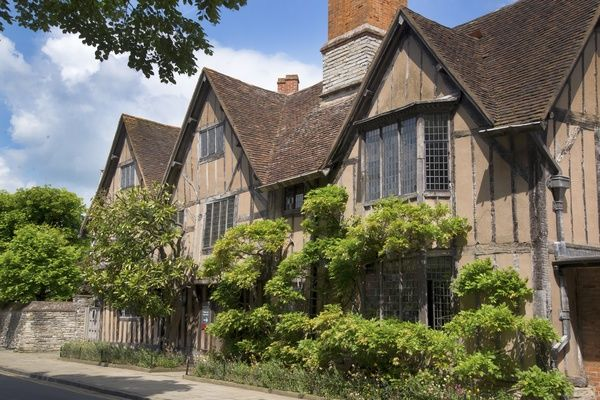 The front of Hall's Croft. Halls Croft was home to William Shakespeare's daughter and husband Dr Hall. The town house in located in Stratford Upon Avon