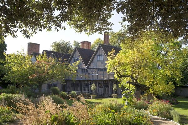 Hall's Croft viewed from the garden. Halls Croft was home to William Shakespeare's daughter and husband Dr Hall. The town house in located in Stratford Upon Avon. October 2017