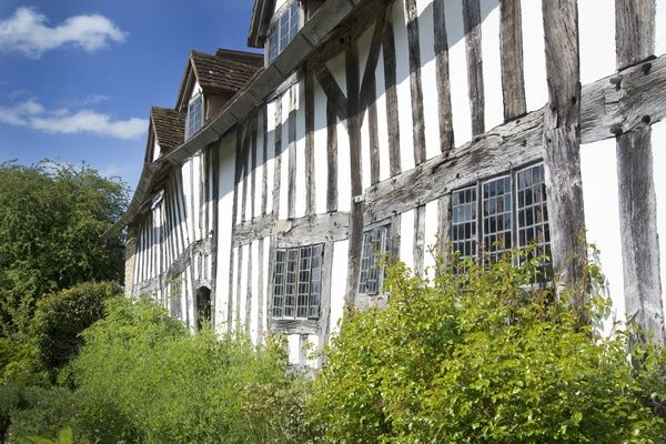 The sixteenth century Palmers Farmhouse located in the village of Wilmcote