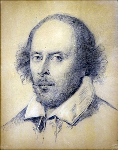 Ozias Humphry, Portrait of William Shakespeare, crayon and paper, 40 x 48 cm, 1783, The Shakespeare Birthplace Trust