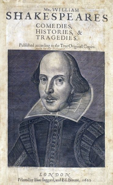 Books and Print, Portraits of William Shakespeare, SBT SR OS 37 Shakespeare First Folio 1623 83000011 Ashburnham title page