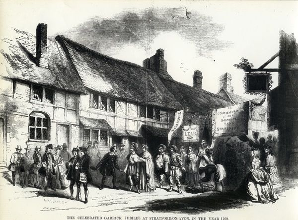 Prints and drawings, Henley Street Shakespeare's Birthplace before restoration -> 1835