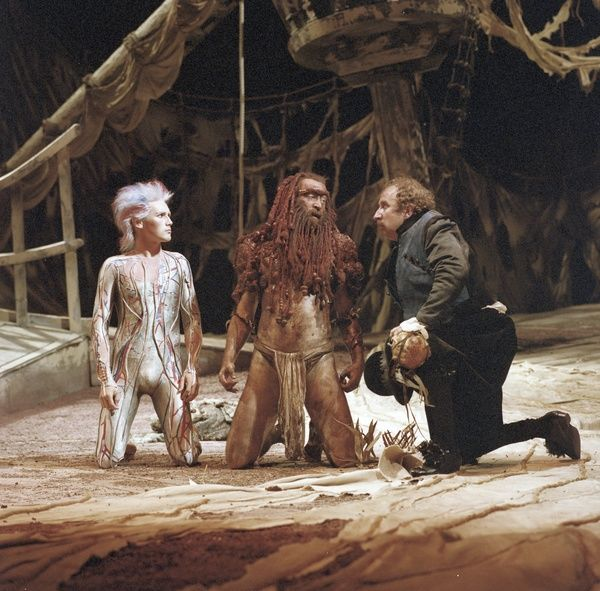 GL4/1/2/1982/TEM C82-T271 neg 19: William Shakespeare's The Tempest performed at The Royal Shakespeare Company, 1982. This production was directed by Ron Daniels and designed by Maria Bjornson