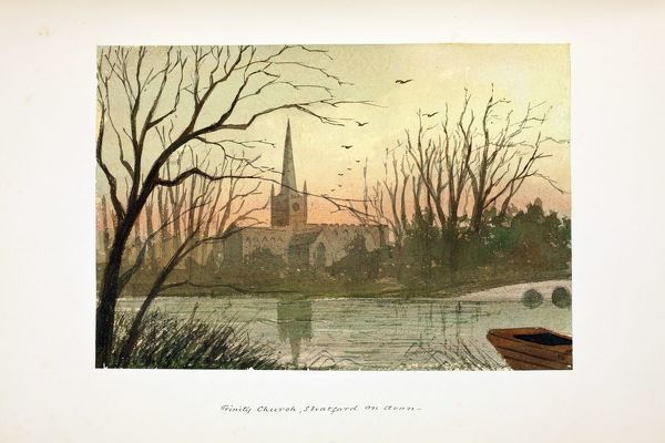 Holy Trinty Church. Watercolour by Paul Braddon, circa 1890