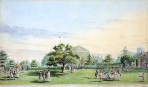 The Bowling Green by C F Green, 1844
