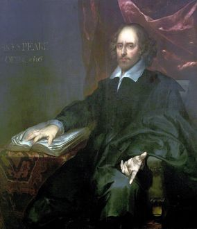 Chesterfield Portrait of Shakespeare, attributed to Pieter Borsselaer