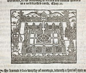 The Gardener's Labrynth, by Thomas Hill. Printed by Henry Bynneman, London, 1577