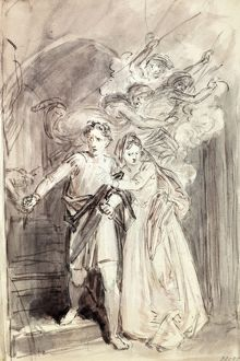 Macbeth and Lady Macbeth by John Masey Wright, 19th Century