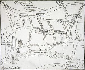 Map of Stratford-upon-Avon by Winter, 1769