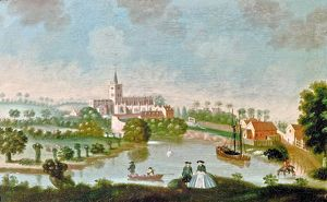 River Avon and Holy Trinity Church by Edward Grubb, 1750