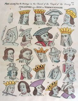 24 heads selected from Guild Chapel by Fisher, 1804