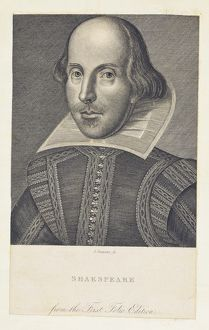 Shakespeare First Folio facsimile engraving by John Swaine
