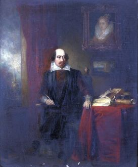 Shakespeare in his Study by Thomas Newland