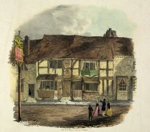 Shakespeare's Birthplace before restoration, 1840