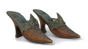 Shoes worn by Mrs Garrick, 1769