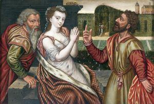 Susannah and the Elders, mid 16th Century