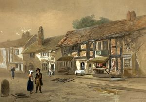 A Watercolour of Shakespeare's Birthplace by W Underhill, 1829